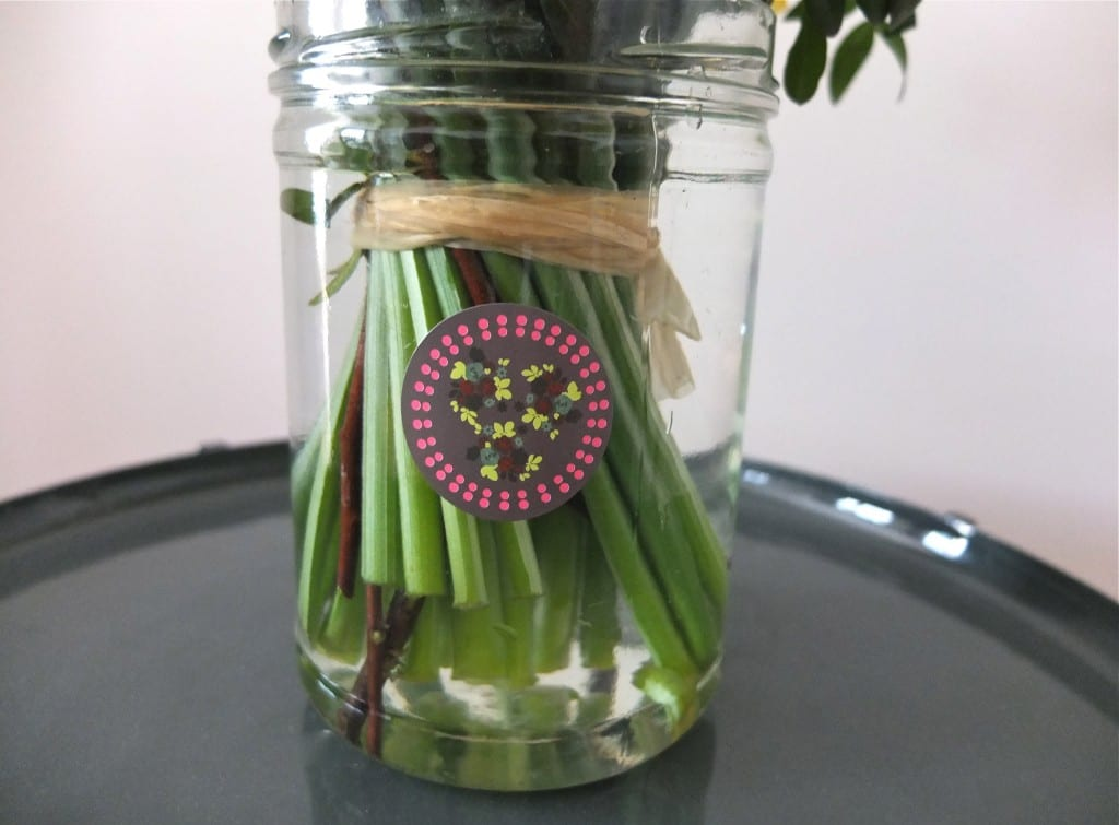 DIY bocal verre vase gommette