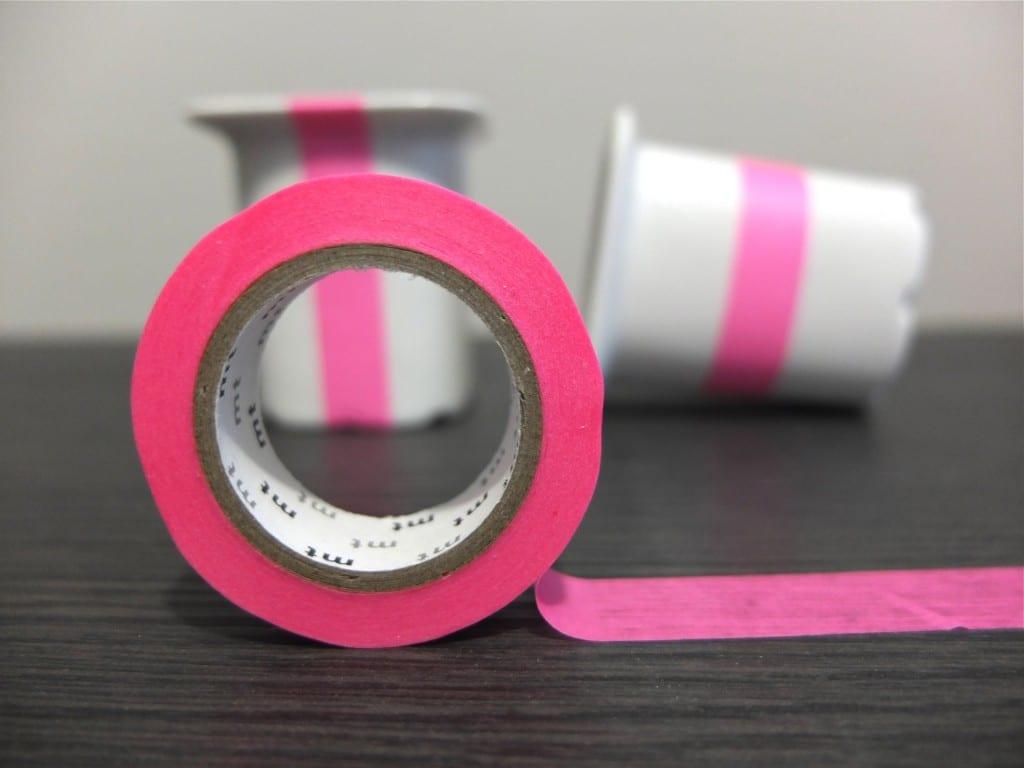 Masking tape rose fluo
