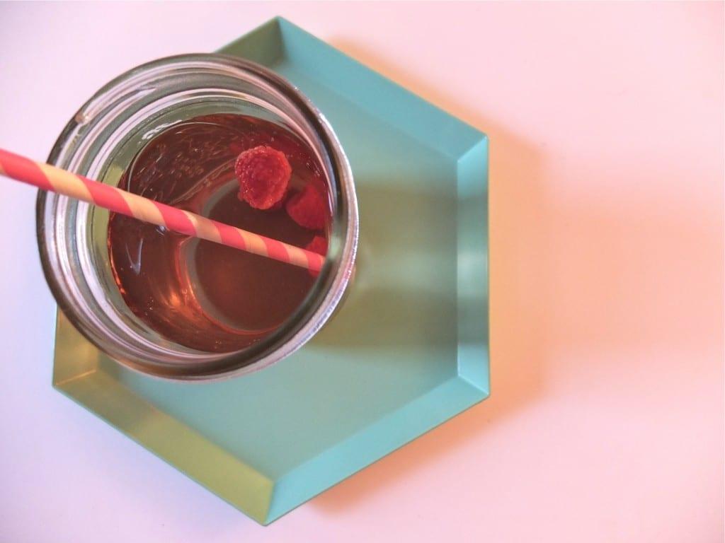 ice tea framboises + plateau HAY