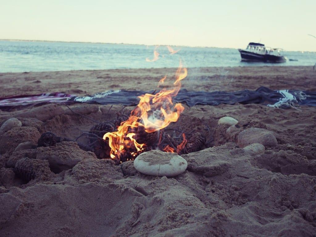 feu sur la plage 2